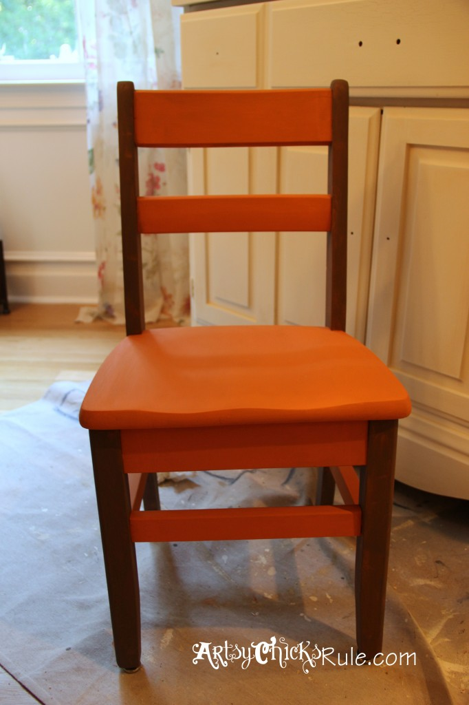Garage Sale Chair Makeover with Chalk Paint Before Graphics
