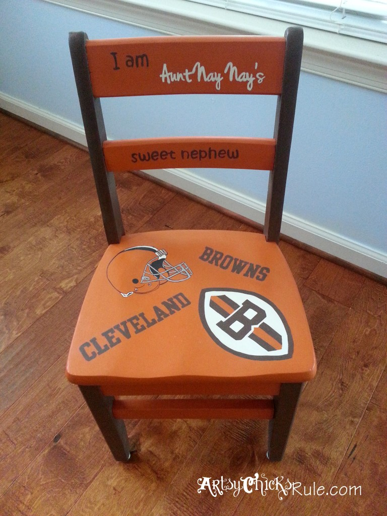 Garage Sale Chair Makeover with Chalk Paint Finished Top