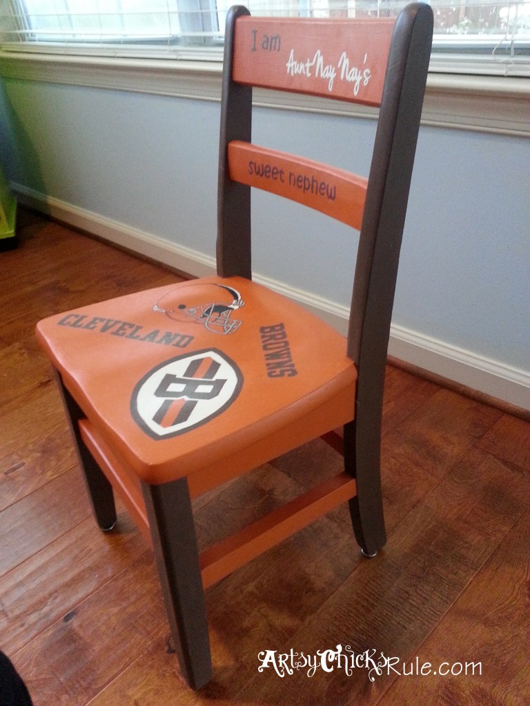 Garage Sale Chair Makeover with Chalk Paint Side