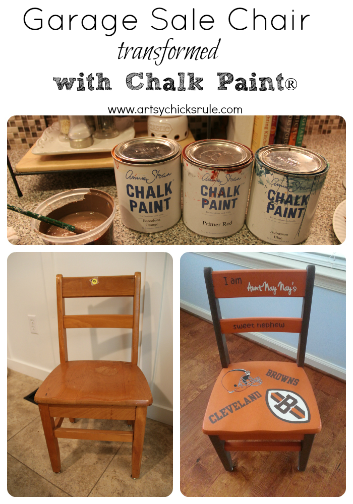 Garage Sale Chair Makeover with Chalk Paint