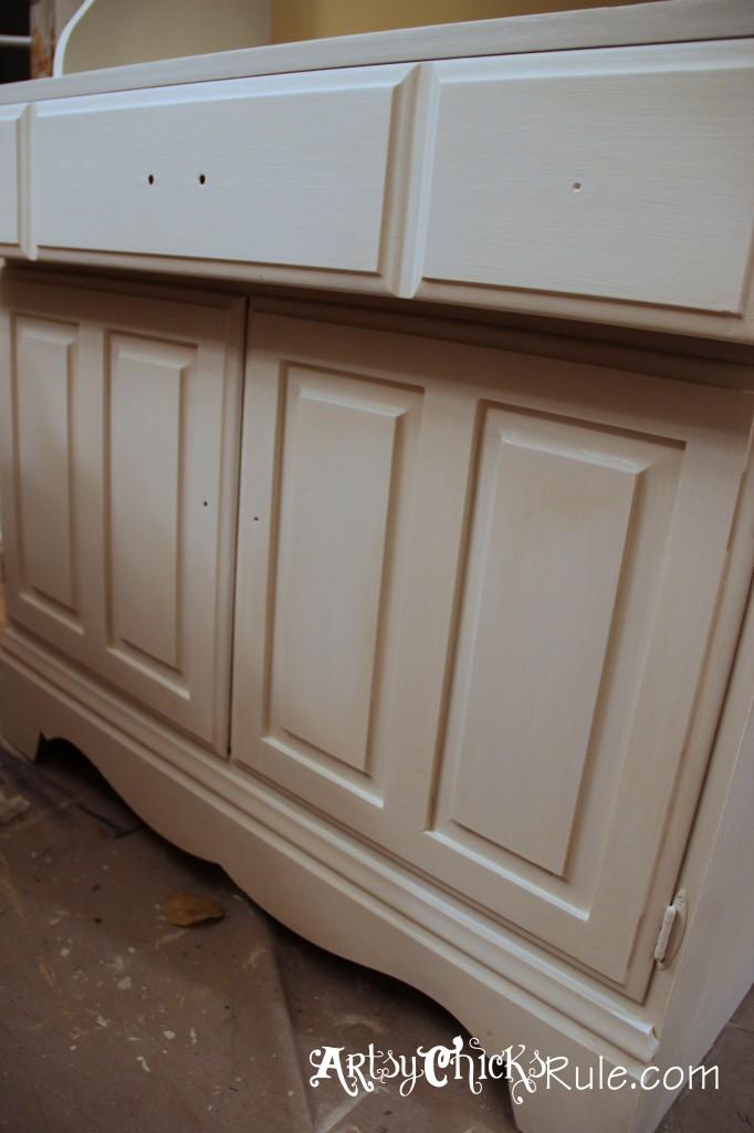 Baker's Hutch - After 2 coats - Annie Sloan Chalk Paint