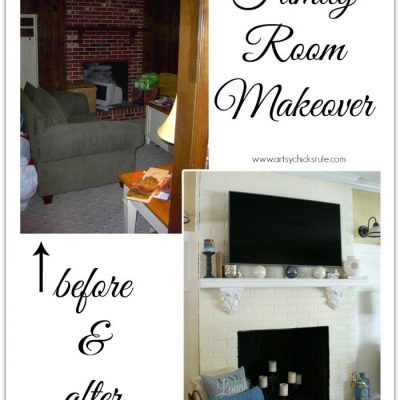 Black Friday TV, Not This Time (a Family Room Makeover)