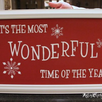 """DIY """"It's The Most Wonderful Time Of The Year"""" Sign"""