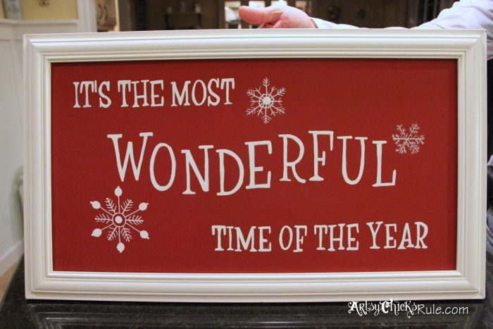 It's The Most Wonderful Time of The Year! artsychicksrule.com #freedownload #mostwonderfultimeoftheyear #christmasprintable #christmassign