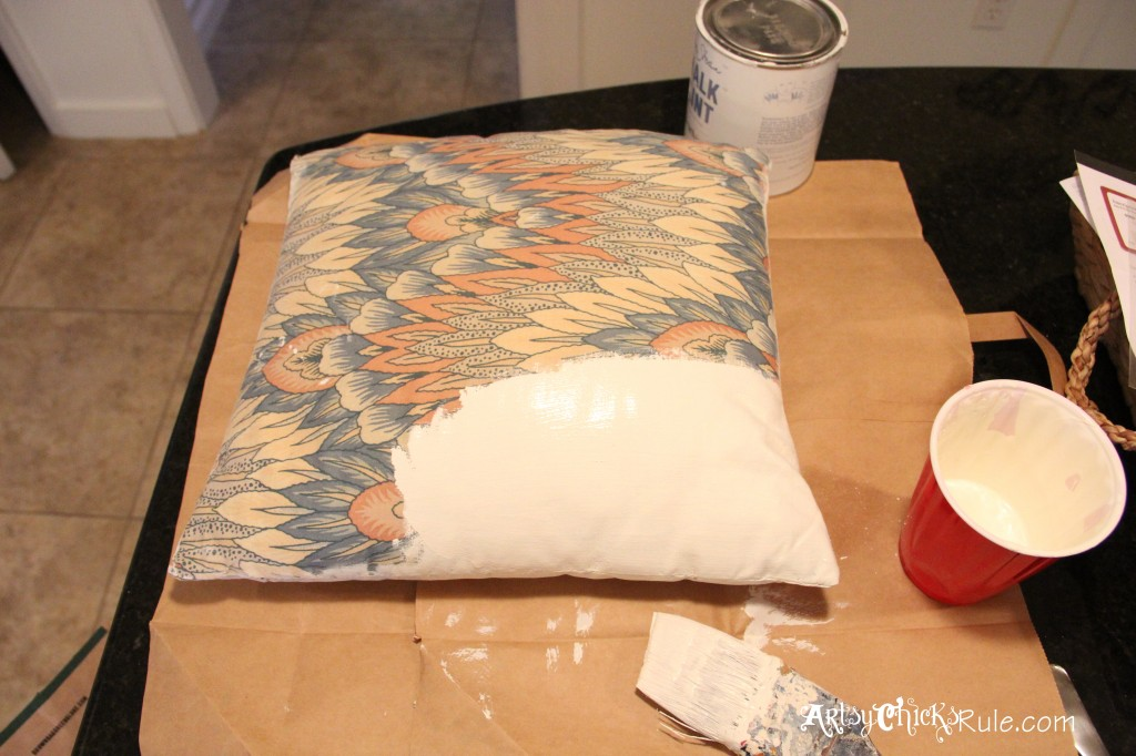 Jingle Y'all Painted Pillow artsychicksrule.com