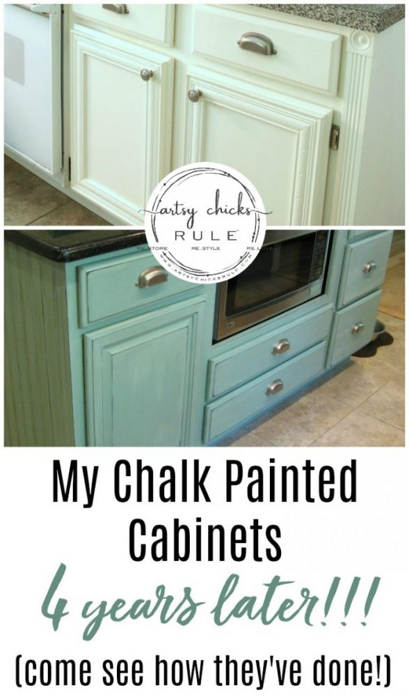 My Chalk Painted Cabinets, 4 years later!! Want to know how the Chalk Paint has held up? Would I do it again?? Come find out here!
