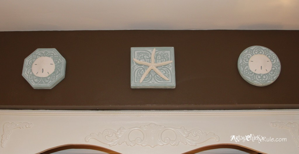 Wall Medallion After Chalk Paint & Starfish