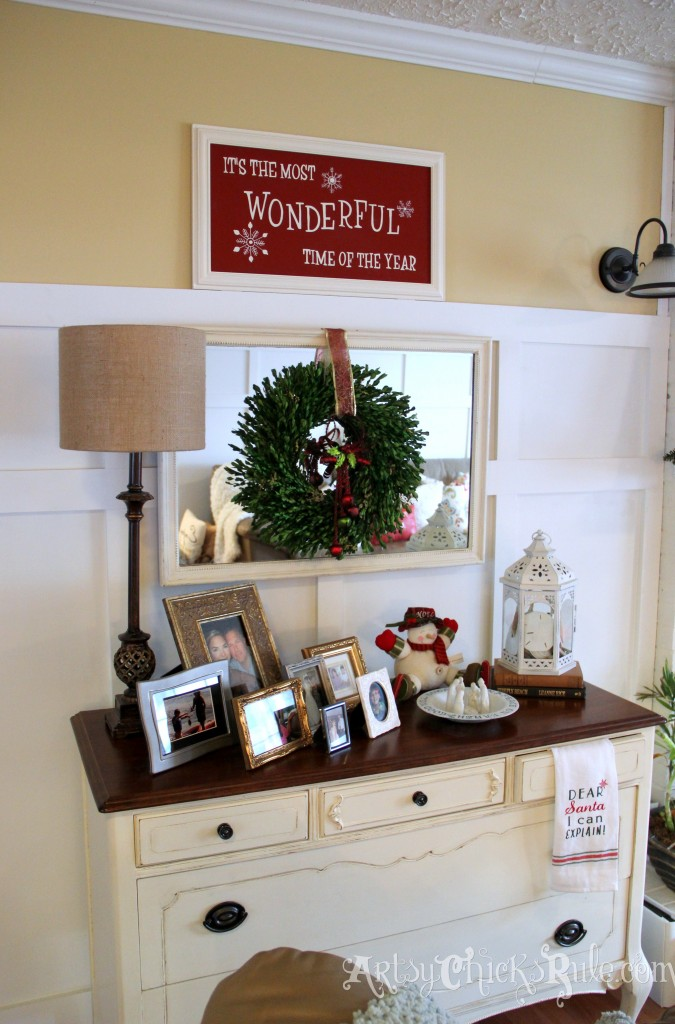 Antique Dresser - Holiday Decor - Holiday Home Tour