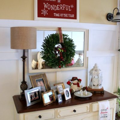 My Holiday Home Tour – How to Decorate on a Budget {Part 1}