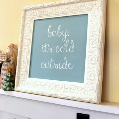 Baby It's Cold Outside (Thrifty Makeover w/Chalk Paint)