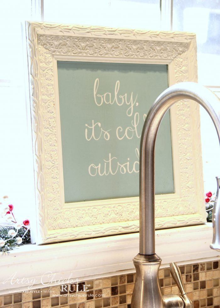 Baby It's Cold Outside Thrifty Holiday Decor!! artsychicksrule.com