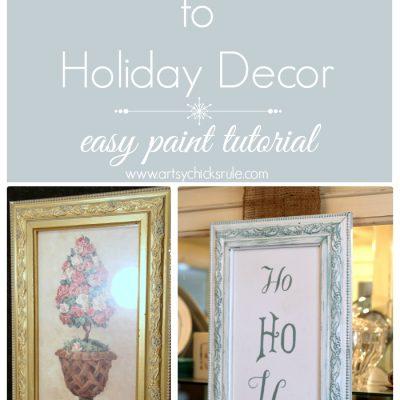 Ho, Ho, Ho {thrifty find to holiday decor}
