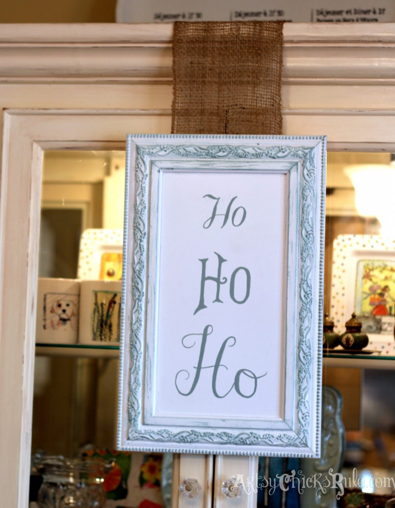 Ho Ho Ho DIY Sign