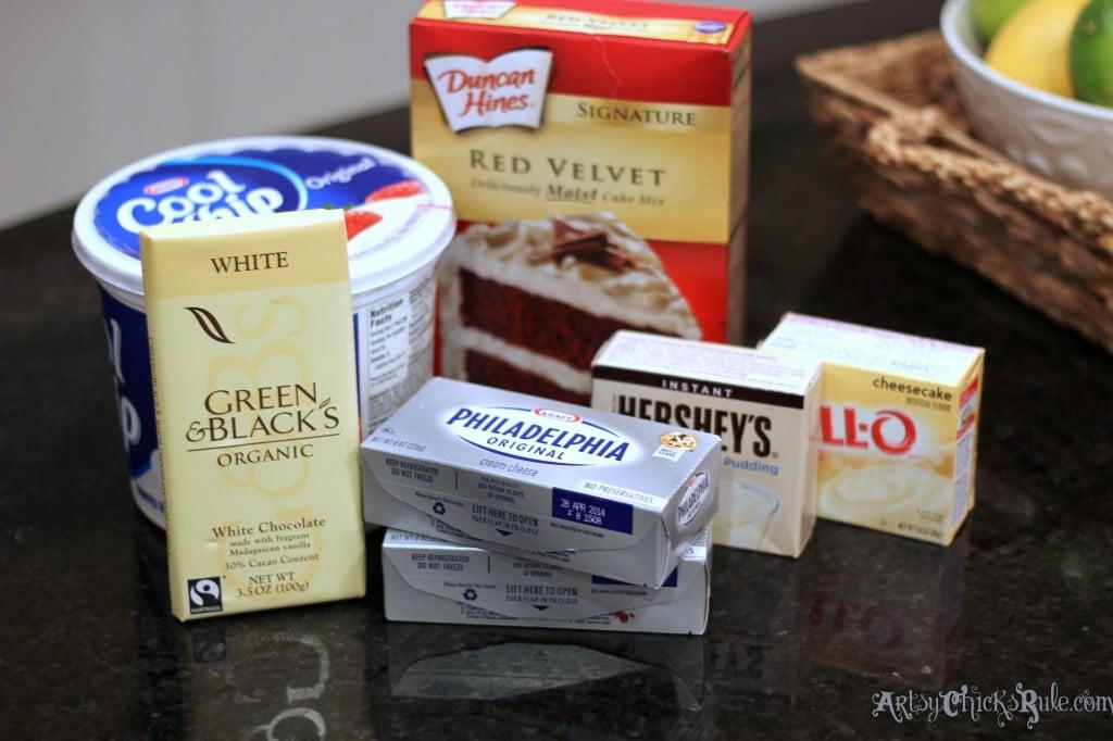 Red Velvet Trifle Ingredients