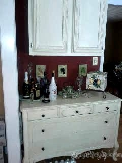 Antique Dresser Before - but after I painted it the first time-