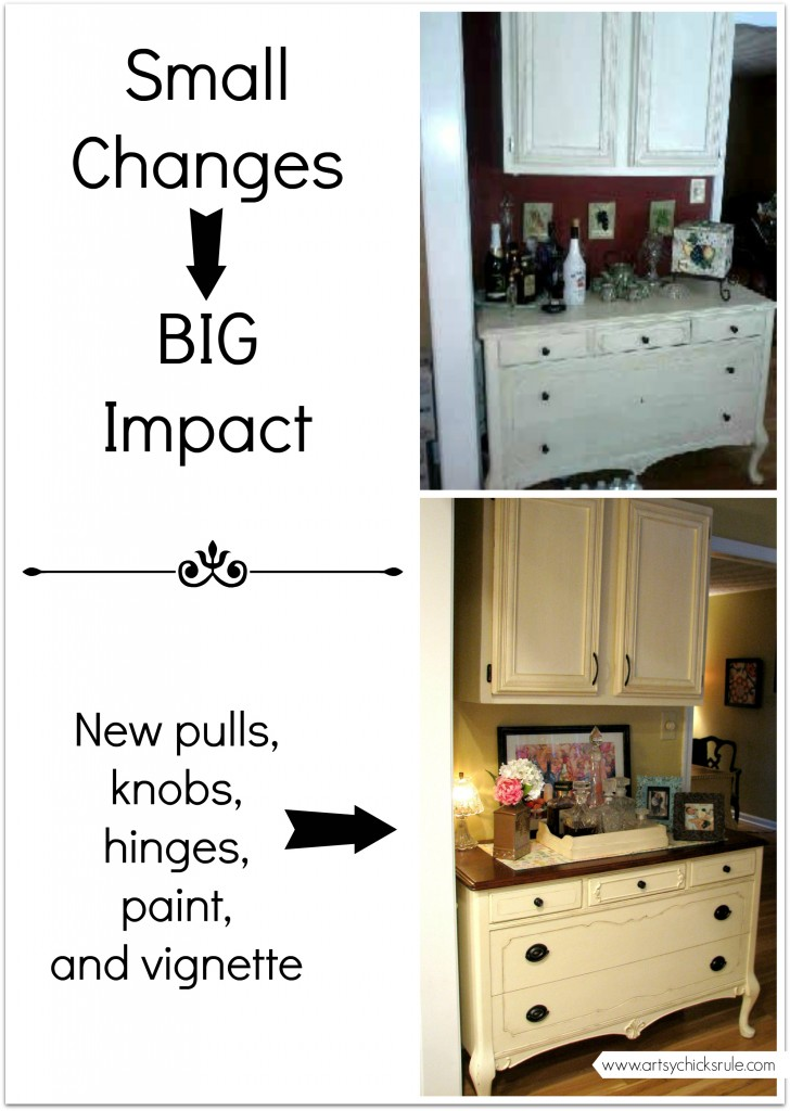 Before and After Antique Dresser