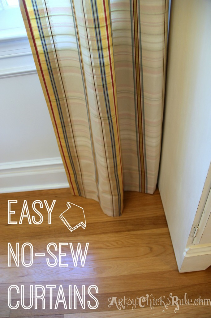 Super easy!! Curtain Panels- No Sew - artsychicksrule.com #nosew