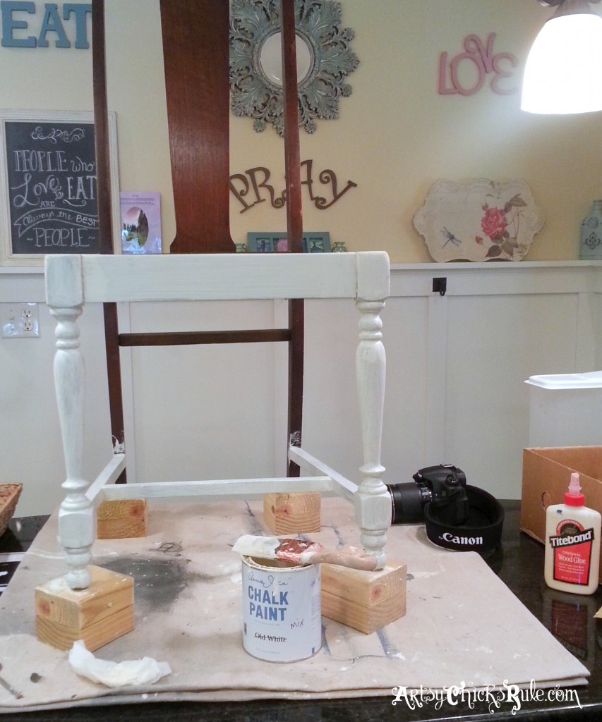 Dining Chair Makeover - Annie Sloan Chalk Paint - artsychicksrule.com #nosew
