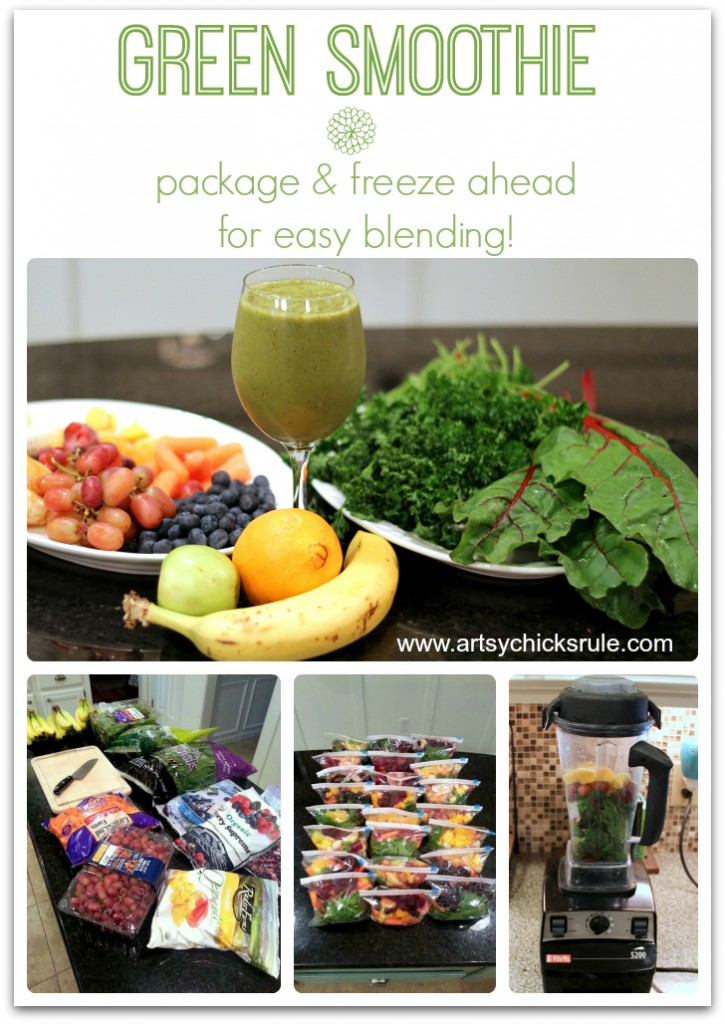 Green Smoothie- Package and Freeze Ahead