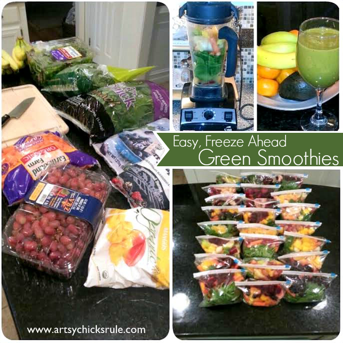 Green Smoothie -packaged and frozen - grab and go