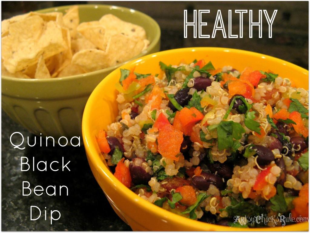 Healthy Quinoa Black Bean Dip