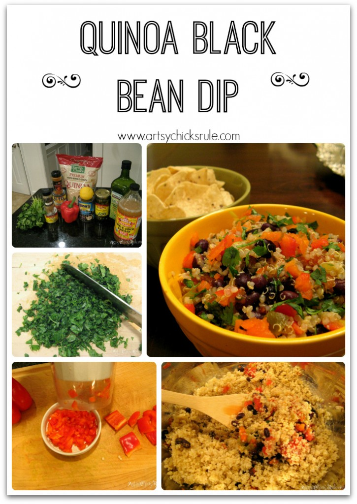 Quinoa Black Bean Dip - Great with chips or veggies!