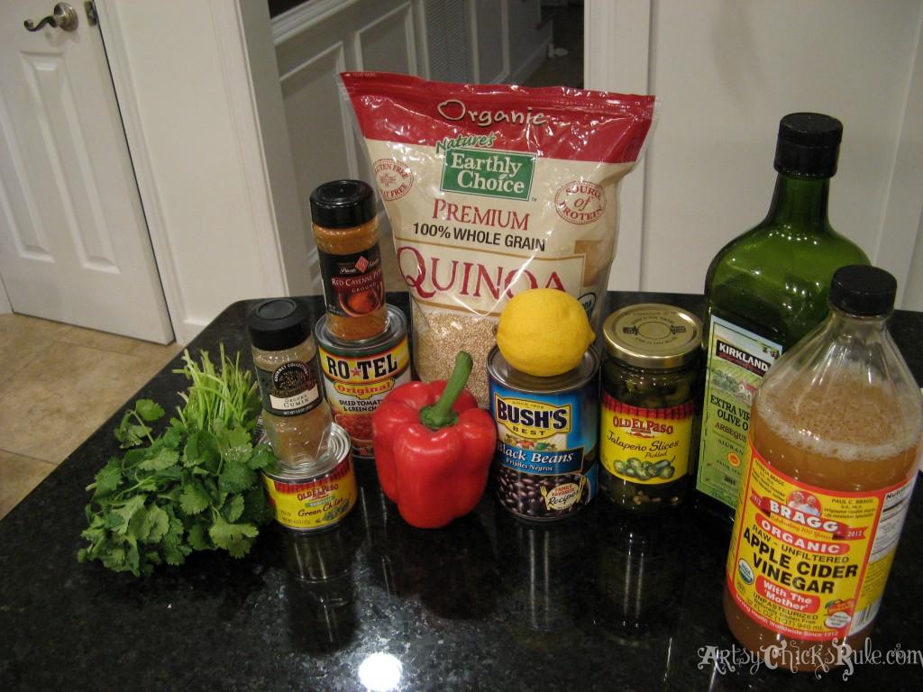 Ingredients for Quinoa Black Bean Dip