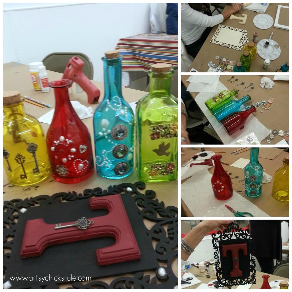 Bottles and Monogram Hanger Mona