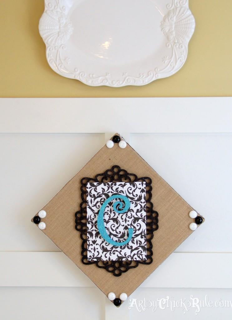 Burlap Monogram Hanging -Michael's-Hometalk Pinterest Party