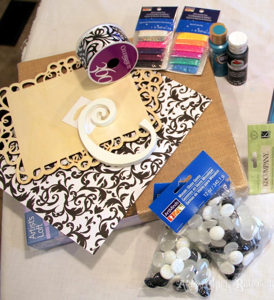Burlap Monogram Supplies -Michael's-Hometalk Pinterest Party
