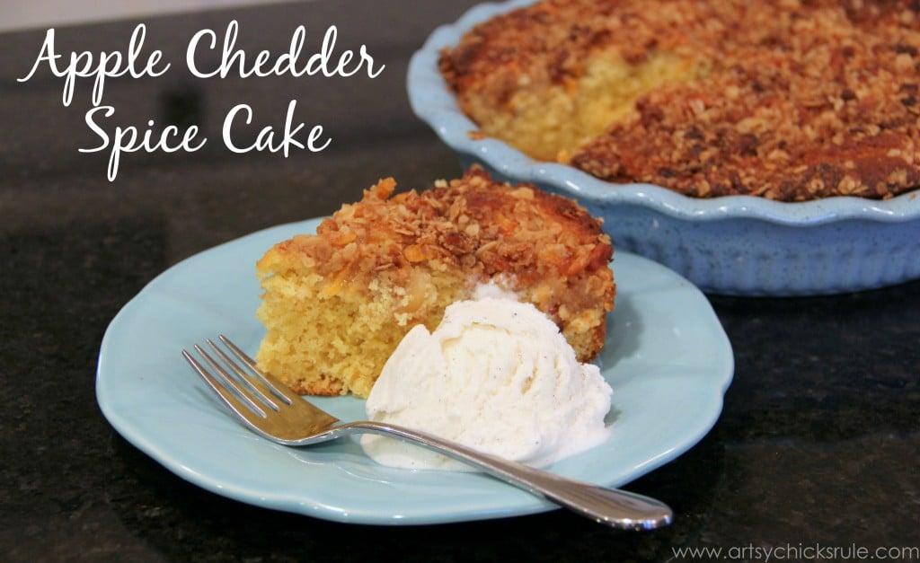 Dollar Store Dessert Challenge - Apple Chedder Spice Cake 1