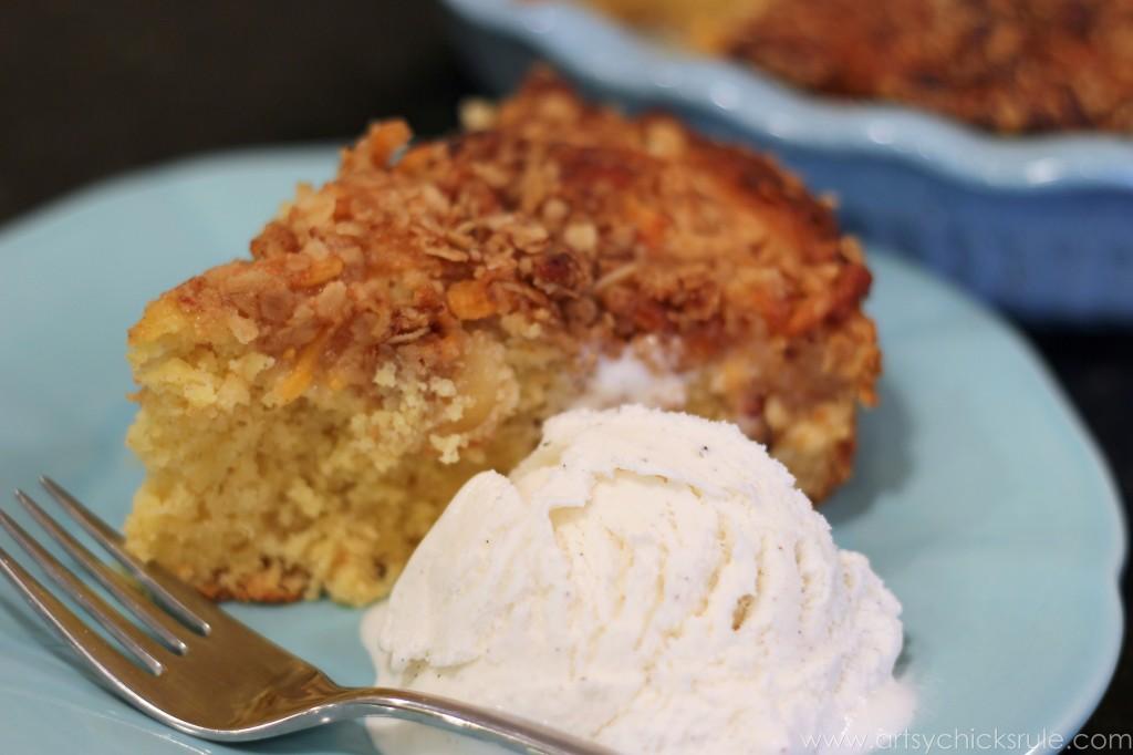 Dollar Store Dessert Challenge - Apple Chedder Spice Cake - 2