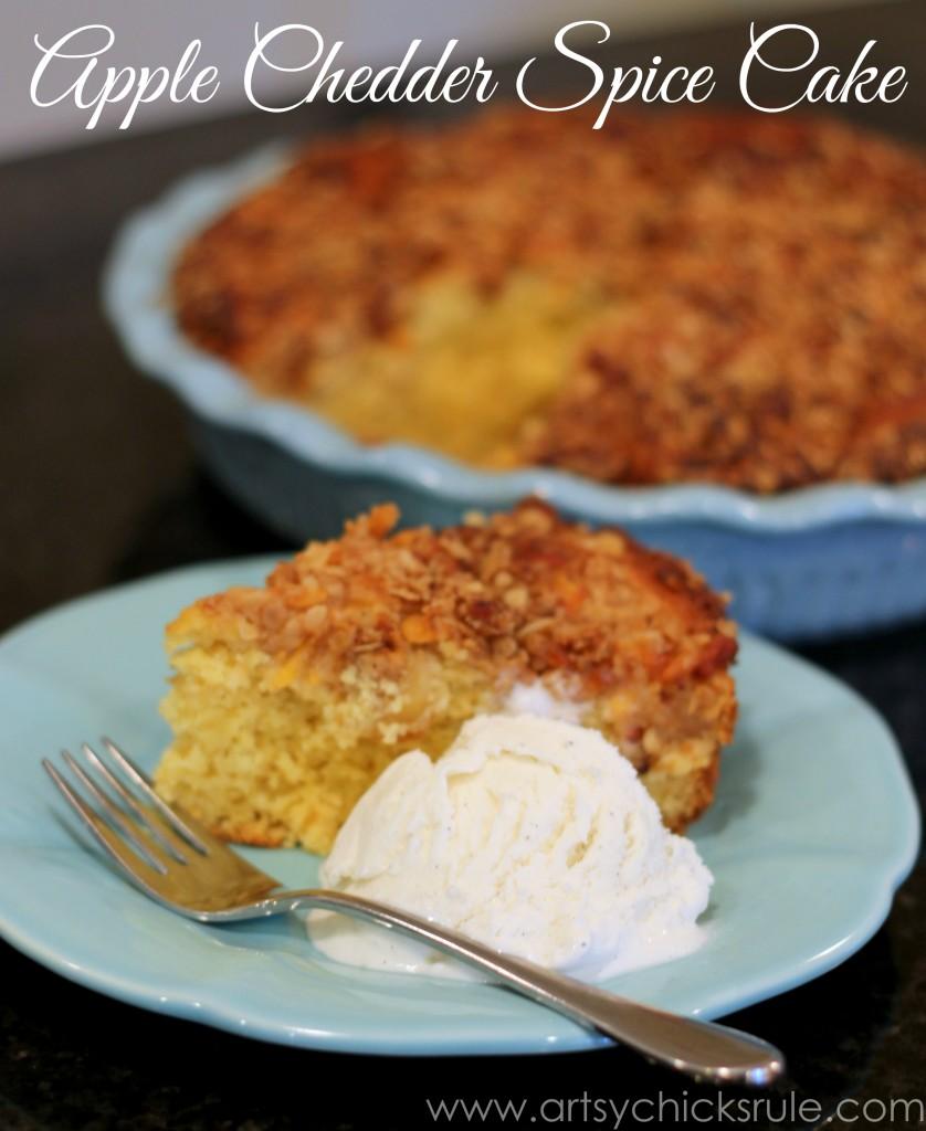 Dollar Store Dessert Challenge - Apple Chedder Spice Cake - 3