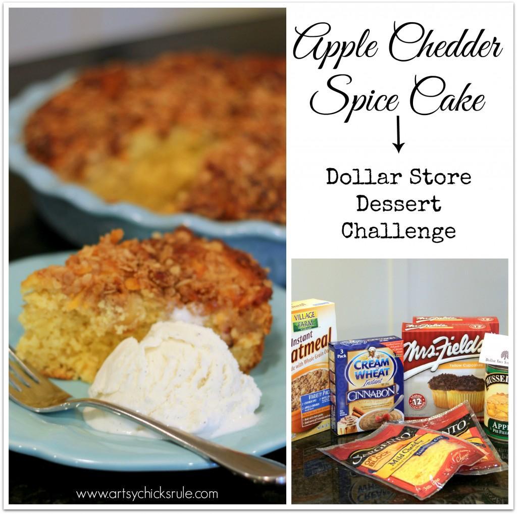 Dollar Store Dessert Challenge - Apple Spice Chedder Cake
