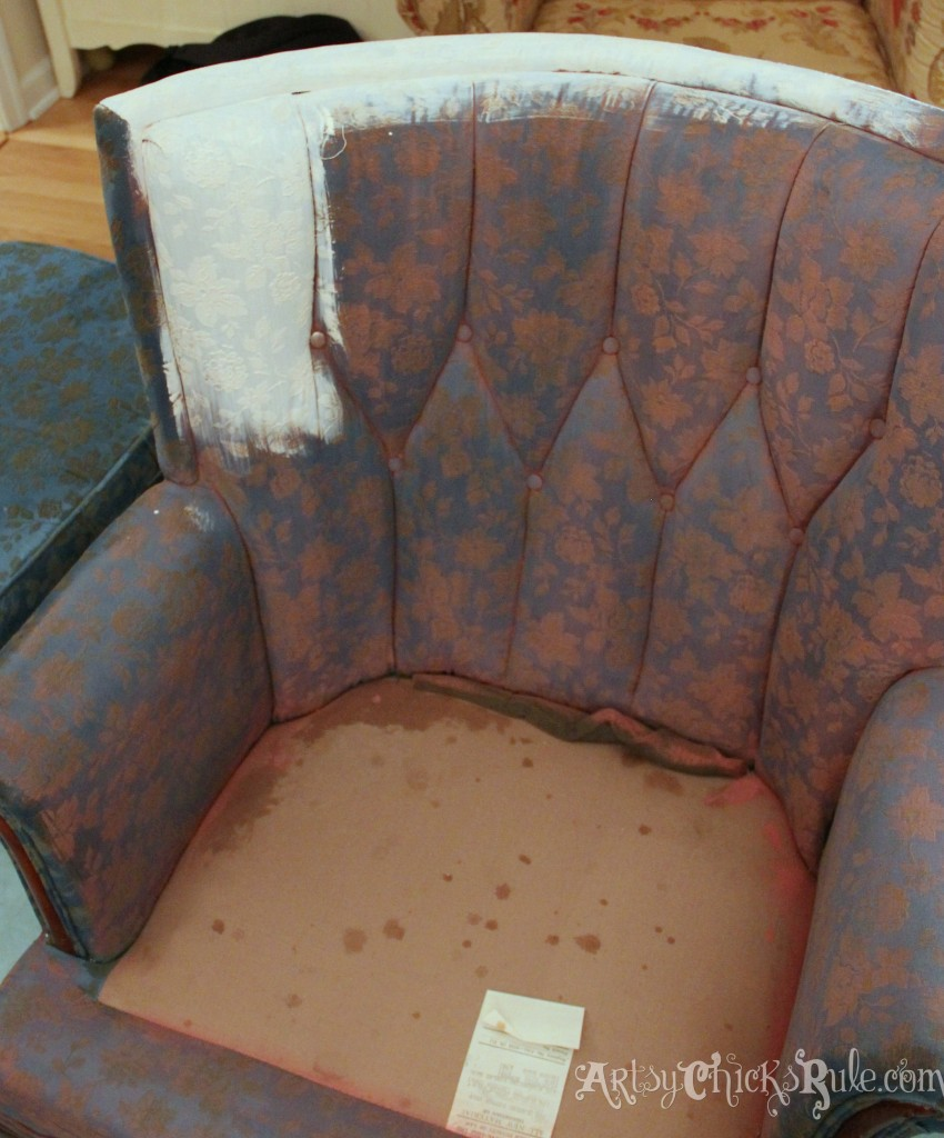 Thrifty Chair Makeover with Chalk Paint- artsychicksrule.com #chalkpaint