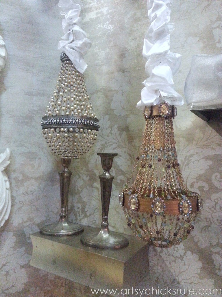 Gorgeous old chandeliers