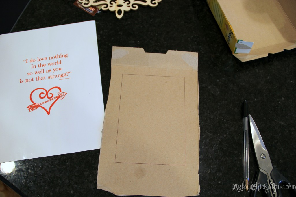 Simple & Fun Valentine's Day Craft - Cardboard back