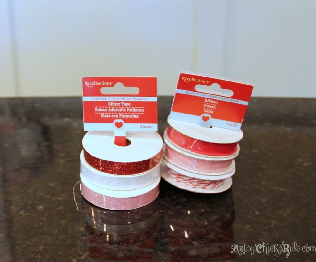 Simple & Fun Valentine's Day Craft - Ribbon and Sparkle tape