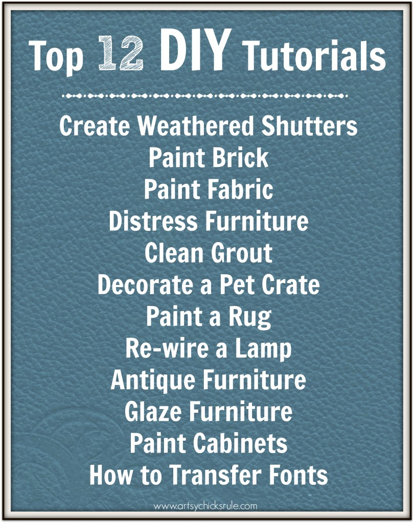 Top 12 DIY Tutorials
