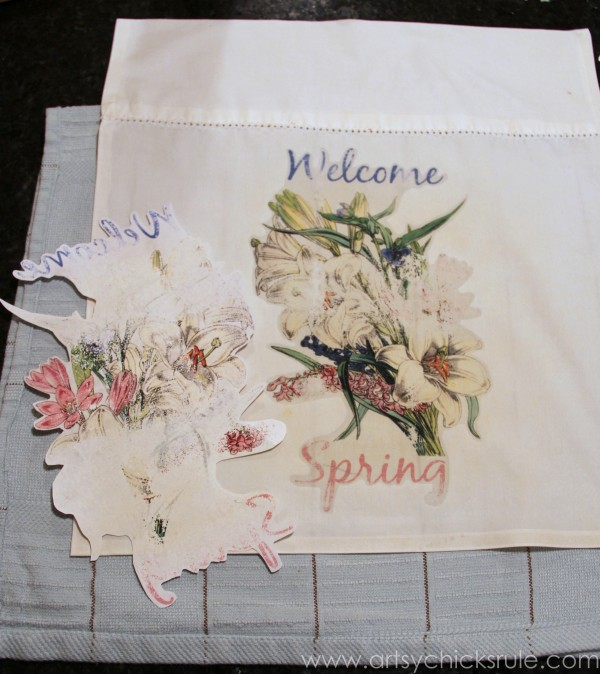 DIY (Pillowcase) Spring Flag - Paper FAIL
