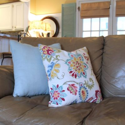 """Feather Pillow """"Fail"""" (and a simple """"no-sew"""" fix)"""