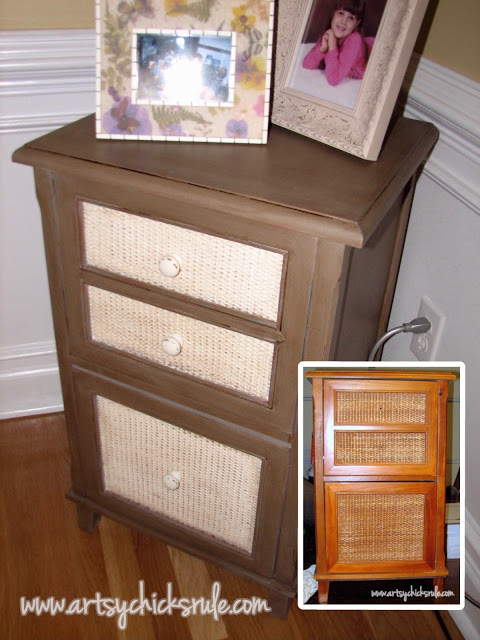 Styling and Decorating on a Budget - $20 cabinet - artsychicksrule.com #thriftydecor #budgetdecor