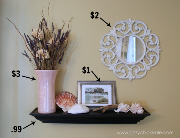 Styling and Decorating on a Budget - Wall Decor - artsychicksrule.com #thriftydecor #budgetdecor