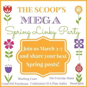The Scoop's Mega Sprink Link Party Button