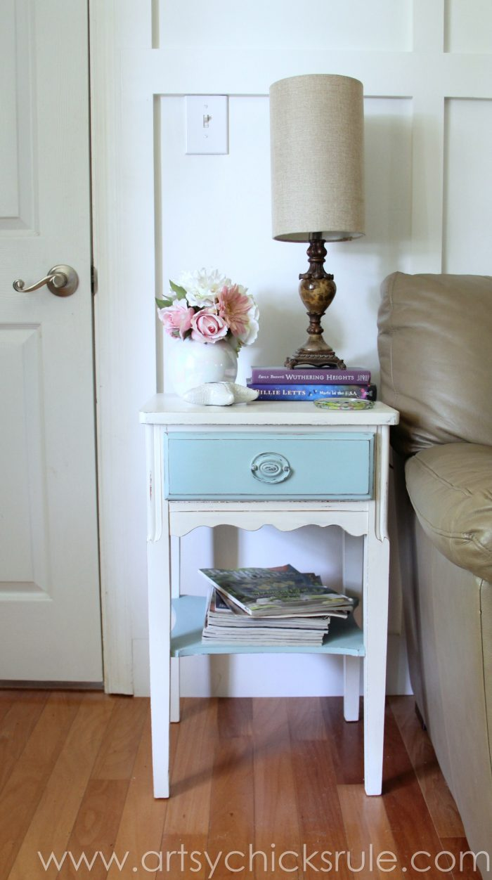 Thrifty End Table Makeover Annie Sloan Chalk Paint