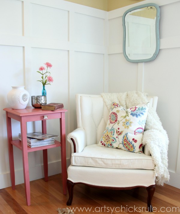 Thrifty Side Table Makeover-Annie Sloan Chalk Paint-AFTER- artsychicksrule.com #chalkpaint