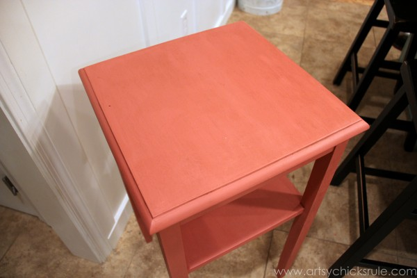 Thrifty Side Table Makeover-Annie Sloan Chalk Paint-Finished with Dark Wax- artsychicksrule.com #chalkpaint