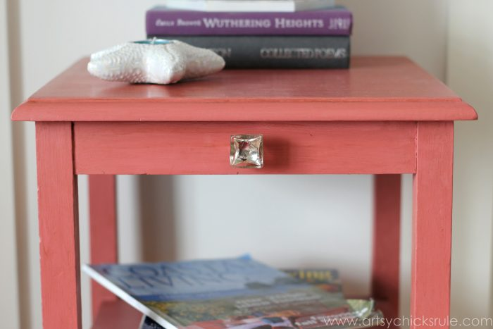 Popular Thrifty Side Table Makeover Annie Sloan Chalk Paint Artsy Chicks Rule