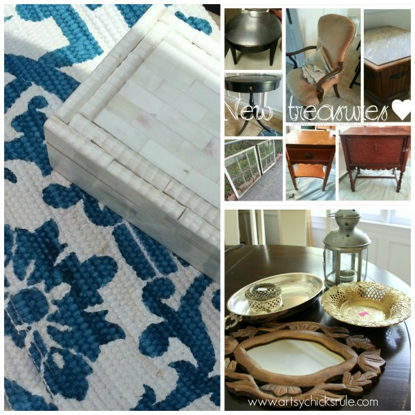 My Favorite Things - Latest Thrifting Finds - artsychicksrule.com #thrifty #homedecor #budgetdecorating