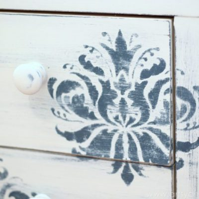 Thrifty Night Stand Makeover {Floral Themed Furniture}